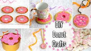 DIY Donut Crafts! Room Decor, Keychain, Snack + More - YouTube