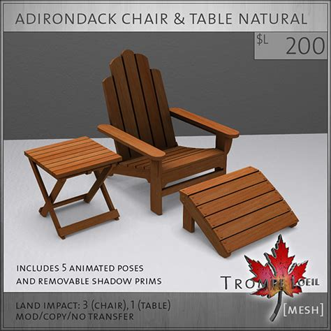 fameshed august adirondack chair table sets and patio
