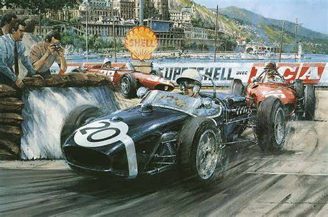 automobile art watts nicholas monaco grand prix victory