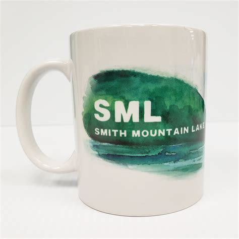 How to find stripers in freshwater. Smith Mountain Lake Watercolor Coffee Cup   Print N Paper