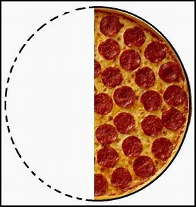 Pizza clipart half and half - Pencil and in color pizza ...