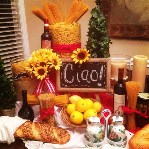 25+ Best Ideas About Italian Themed Parties On Pinterest