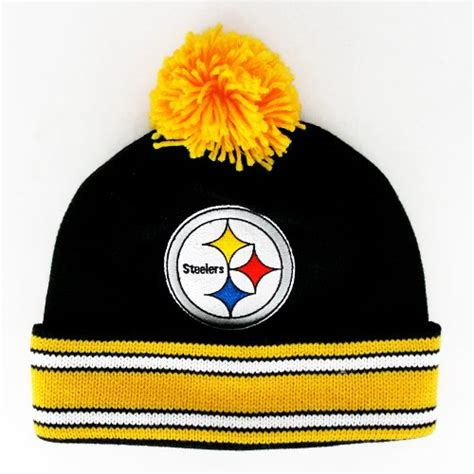 what are the steelers colors pittsburgh steelers the cuffed pom knit team colors