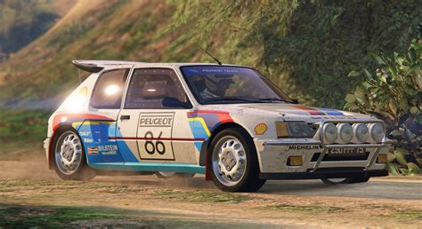 Peugeot Rally by Peugeot 205 Turbo 16 Add On Tuning Livery Gta5
