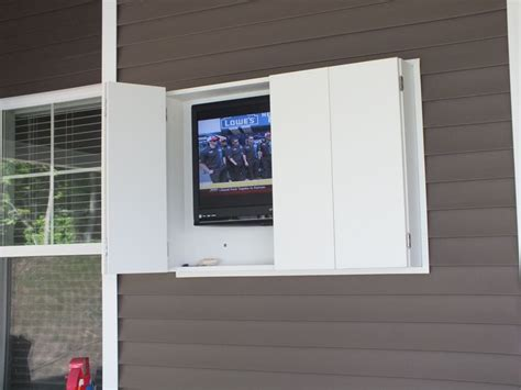 outdoor tv cabinet made from weatherproof pvc storage