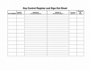 key control register and sign out sheet in word and pdf With key register template