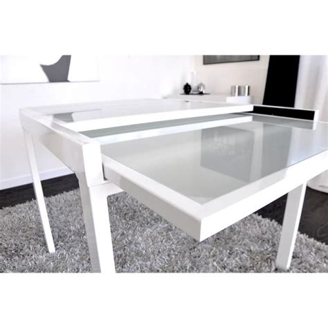 console chambre emejing table a manger blanche extensible gallery