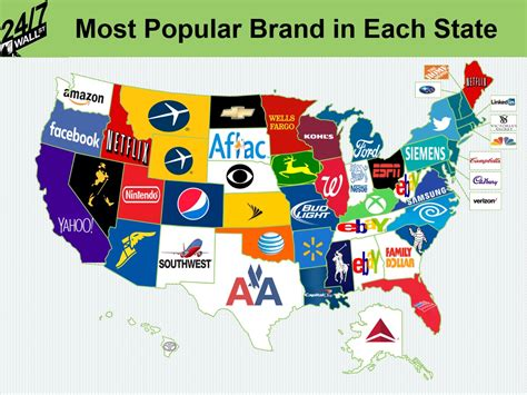 The Most Popular Brand In Each State  247 Wall St