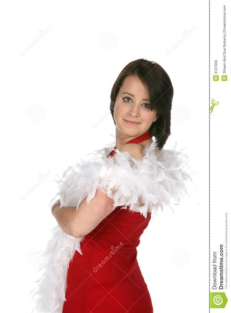 Teen With Feather Boa Royalty Free Stock Images Image 6137009