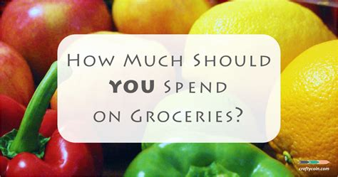 How Much Should You Spend On Groceries?  Crafty Coin