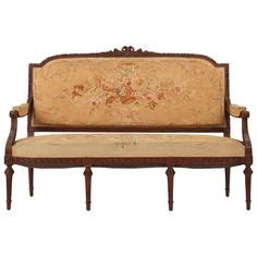Recovering Settees by Antique Louis Xvi Sofa Settee Gold Leaf Green