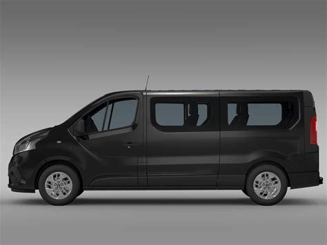 renault trafic l2h1 renault trafic minibus l2h1 2015 3d model flatpyramid