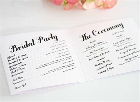 wedding program sle wording ideas wedding program wording everafterguide