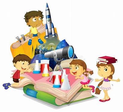 Children Science Equipment Cartoon Kinderen Materiaal Clipart