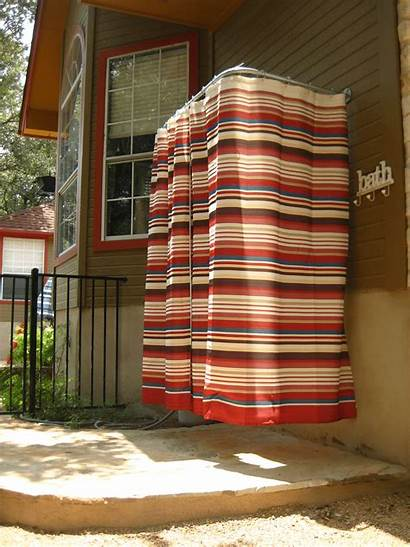 Shower Rod Curtain Curtains Showers Shaped Outdoors