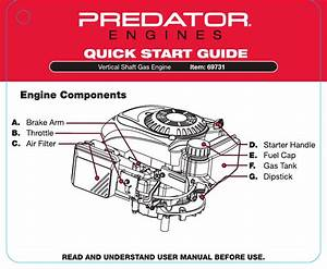 Quick Start Guide For The 69731 173 Cc Ohv Vertical Shaft
