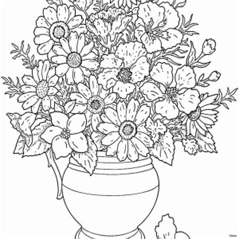 colouring pages flowers   vase