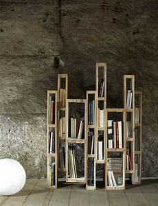 Bibliothèque Design Bois : des id es diy pour r utiliser une palette en bois ~ Teatrodelosmanantiales.com Idées de Décoration