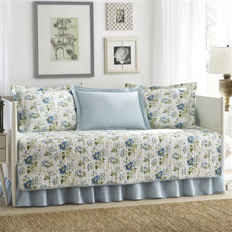 Laura Ashley Daybed Bedding by Laura Ashley Peony Garden 5 Piece Quilted Daybed Cover Set