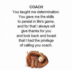 Baseball Coach Thank You Quotes  Quotesgram