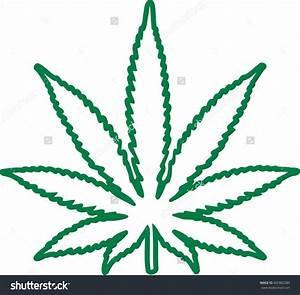 Cannabis leaf outline clipart