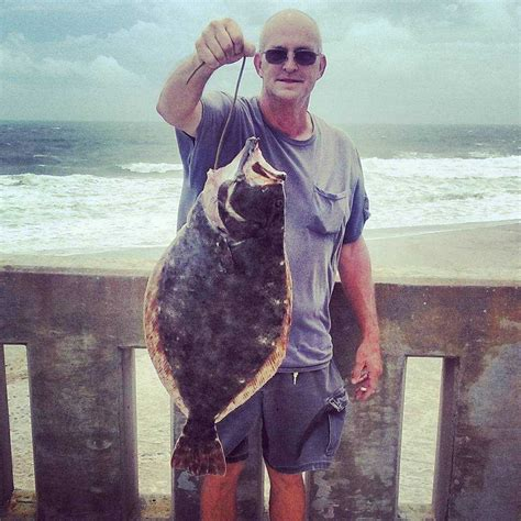 pier fishing surf johnny magazine flounder mercers caught wood