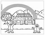 Coloring Rainy Rainbow Pages Weather Days Printable Getdrawings Drawing Coloringtop sketch template