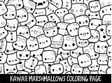 Coloring Pages Doodle Marshmallow Printable Kawaii Cute Marshmallows Adults Doodles Clipart Etsy Print Popsicle Piccandle Monsters Sheets Books Getcolorings Moj sketch template