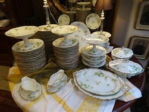 Service De Vaisselle : iportant service de tabled 39 epoque 1900 en porcelaine de ~ Voncanada.com Idées de Décoration