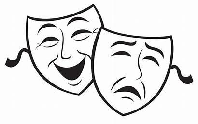 Drama Masks Cartoon Clipart Clip Background
