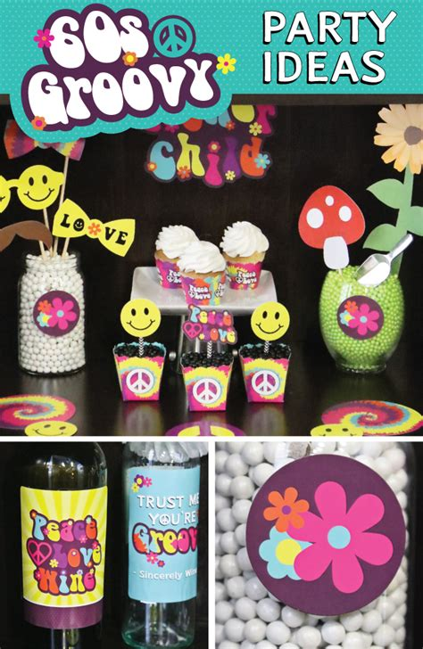 groovy time   party decorations