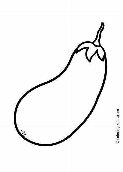 Squash Vegetables Vegetable Coloring Drawing Pages Clipart