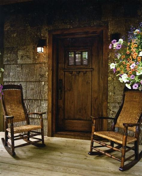 front door chair front porch rustic chic west alton marina pinterest