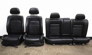 Full Black Heated Leather Seat Set 93