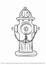 Hydrant Fire Drawing Draw Step Department Objects Everyday Drawingtutorials101 Easy Drawings Hydrants Firefighter Coloring Pages Clip Learn Crafts Fireman sketch template