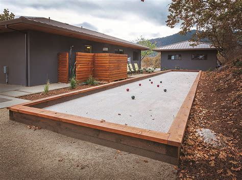 how to build bocce court do it yourself build your own backyard bocce ball court 1859 oregon s magazine
