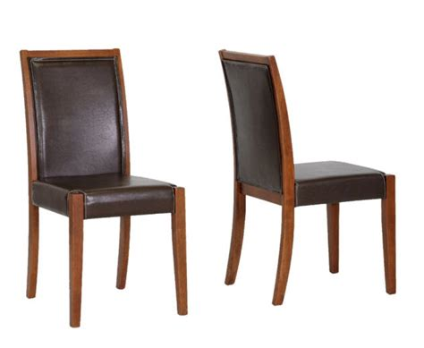 brown leather dining arm chairs image mag