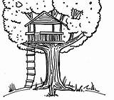 Treehouse Coloring Drawing Tree Clipart Magical Pages Magic Simple Chalk Cliparts Clipground Library Clip Getdrawings Guardado Desde sketch template