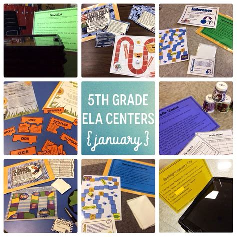January 5th Grade Reading Centers  The Brown Bag Teacher