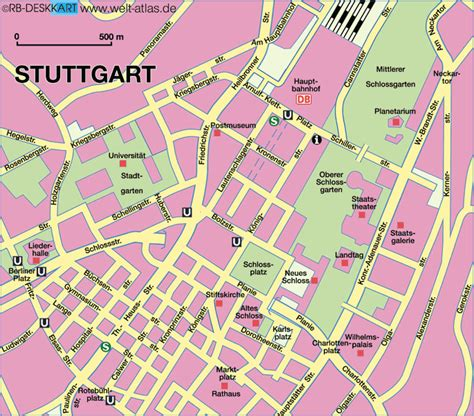 stuttgart on map map of stuttgart center city in germany baden