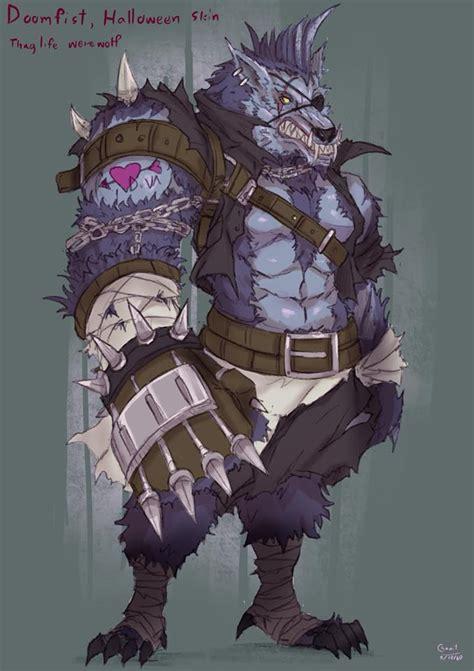 overwatch werewolf doomfist  kachima  deviantart