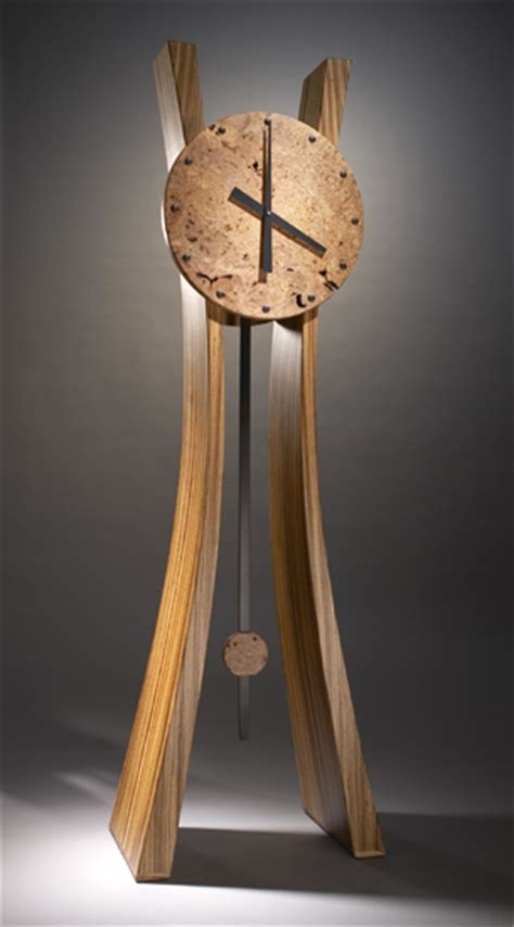 passage  time  brian hubel wood floor clock artful