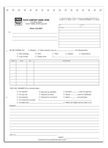letter of transmittal exle general contractor forms office supplies on 51588