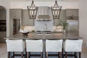 gray kitchen cabinets with white fan tile backsplash With what kind of paint to use on kitchen cabinets for coral fan wall art