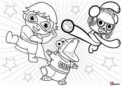 Coloring Printable Ryan Cartoon Ryans Bubakids Multiplication