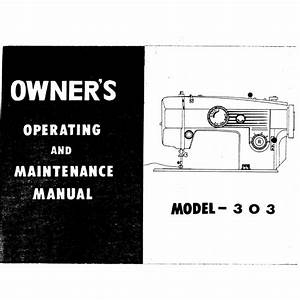 Instruction Manual  White 303   Sewing Parts Online