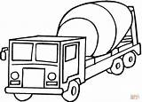 Cement Coloring Mixer Truck Printable Log Transportation Trucks Transport Drawing Land Driver Semi Colouring Crafts Preschoolers Toddlers Super Getcolorings Fire sketch template