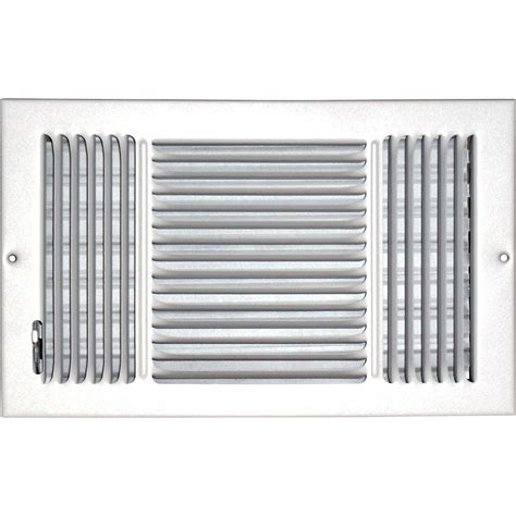 home depot register covers speedi grille 8 in x 14 in hands free ceiling or wall register cover with 2 way deflection