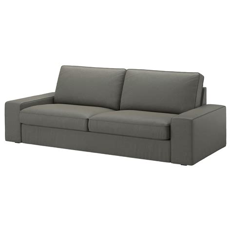 kivik cover three seat sofa borred grey green ikea