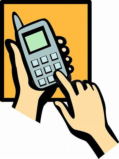 Phone Cell Clipart Dialing Vector Illustration Dial